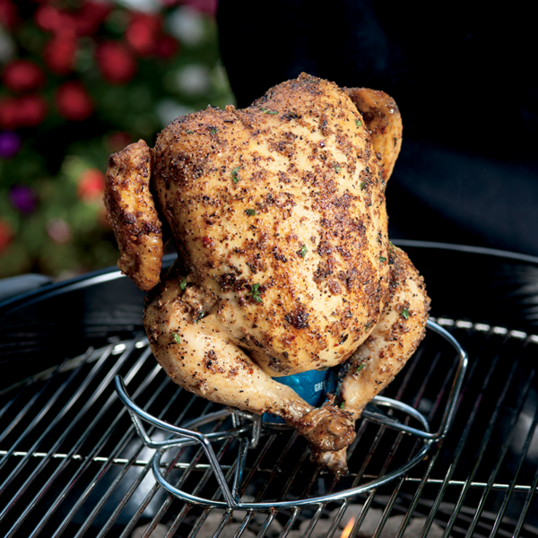 Cook the perfect chicken on the Weber Poultry Roaster