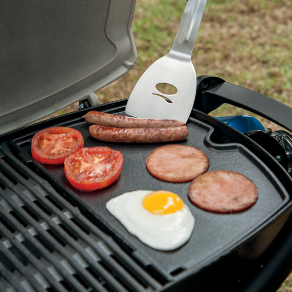 Cook the perfect breakfast on the Weber Barbecue Cast Iron Griddle for Q100 / 1000 Series #6558
