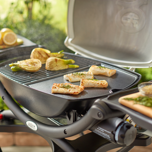 Cook delicate food on the Weber Barbecue Cast Iron Griddle for Q 200 / 2000 Series