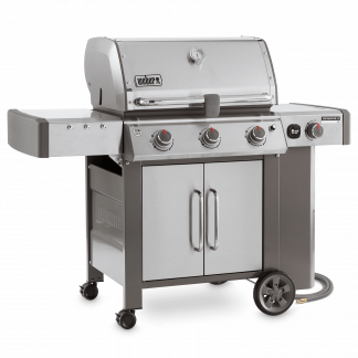Weber Genesis II LX S-340 GBS Gas Grill Barbecue (Stainless Steel)