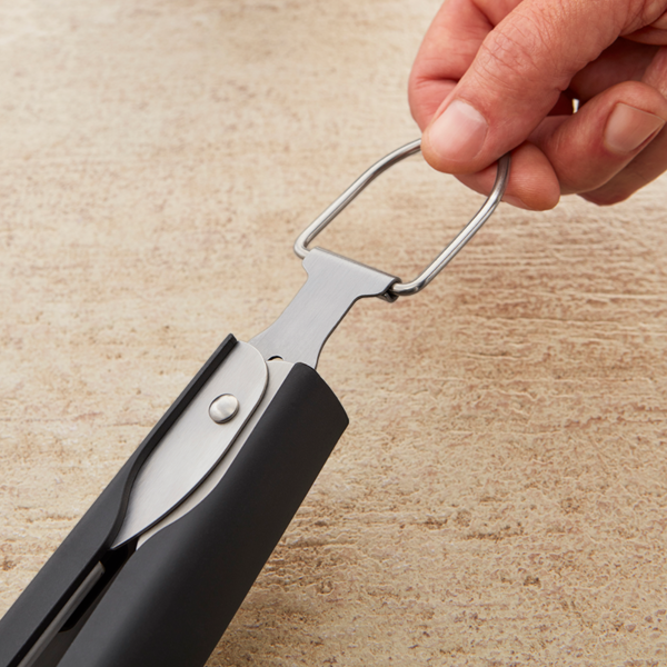 Use the loop on the Weber Barbecue Premium Tongs (Stainless Steel) to store the Tongs
