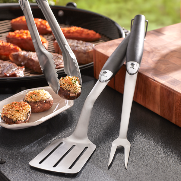 Using the Weber Barbecue Premium Stainless Steel Tool Set #6630