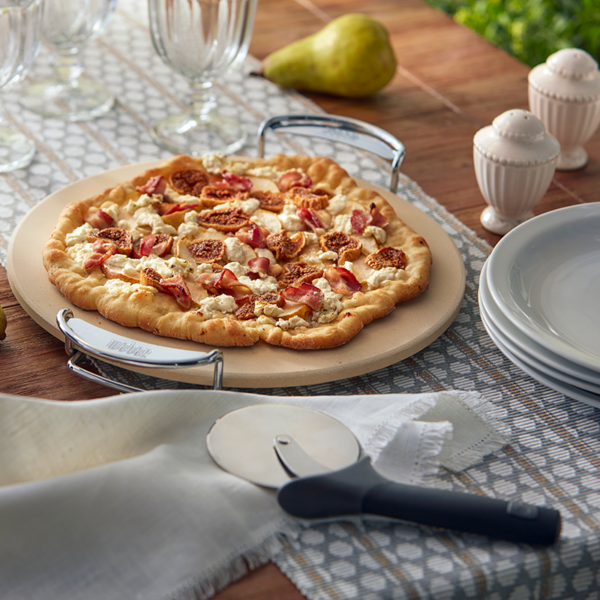 The Weber Pizza Cutter is a great accessory to accompany a Weber GBS Pizza Stone