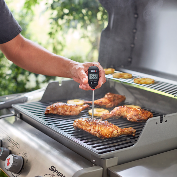 Using Weber Instant-Read Thermometer (Pocket Size)