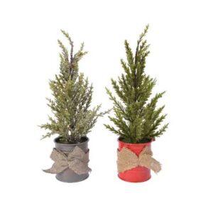 Mini Tree Zinc Pot 2Col Ass Assorted Dia12X32cm