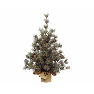 Frosted Mini Tree Pinecones Green Dia38X45cm