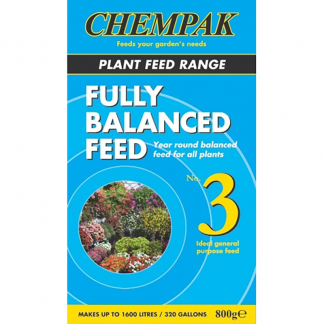 Chempak Fully Balanced Plant Feed - Formula No. 3 Soluble Fertiliser (800g)