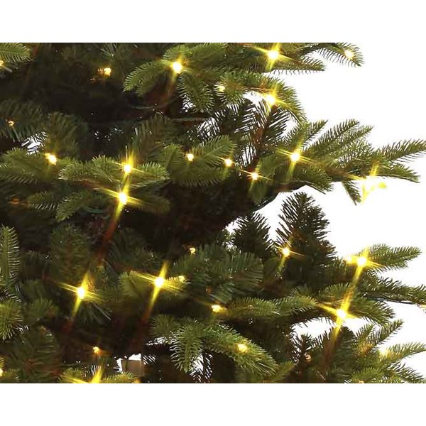 Everlands Mountain Spruce Pre-Lit Artificial Christmas Tree Close up of Branches