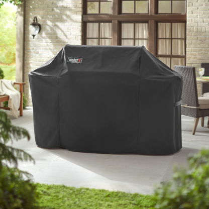 Weber Barbecue Grill Premium Cover for Summit 600 Series (Black)