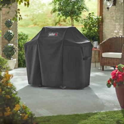 Weber Barbecue Grill Premium Cover for Genesis II & Genesis II LX 200 Series (Black)
