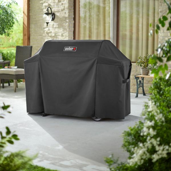 Weber Barbecue Grill Premium Cover for Genesis II & Genesis II LX 400 Series (Black)