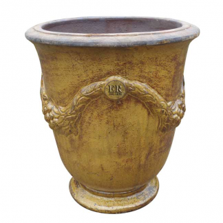 Errington Reay & Co. Ltd Courtyard Garland Urn Old Leather
