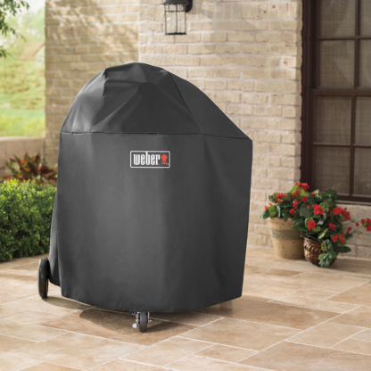 The Weber Barbecue Grill Premium Cover for Summit Charcoal (Black)