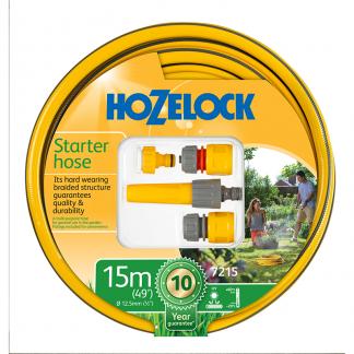 Hozelock Starter Hose, Fittings & Nozzle Set (15m)