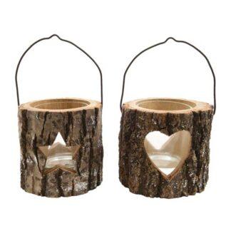 Natural Pine Wood Tealight Holder