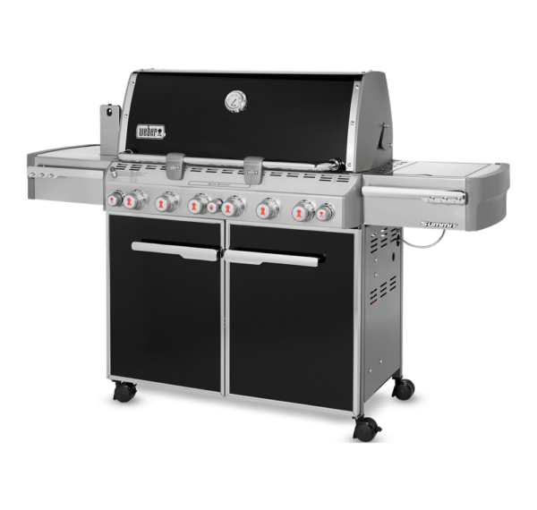 Weber Summit E-670 GBS Gas BBQ Angled View