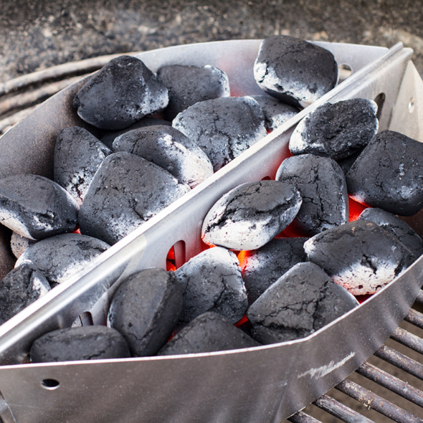Get glowing coals with the Weber Barbecue Char-Baskets for 57/67cm Charcoal BBQs (2 pcs) #7403