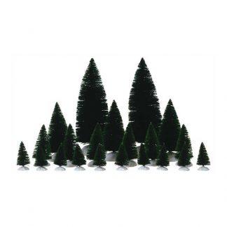 Lemax Set Of 21 Assorted Fir Trees
