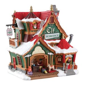 Lemax The Elf Workshop Lighted Building