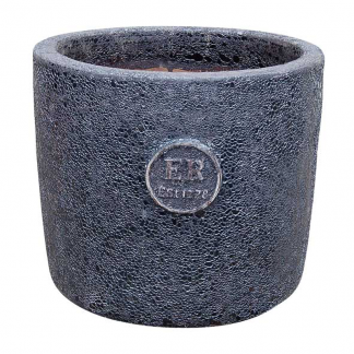 Errington Reay & Co. Ltd Elementals Round Planter Lava Graphite