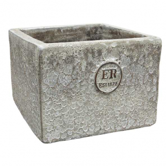 Errington Reay & Co. Ltd Elementals Square Planter Lava Quartz