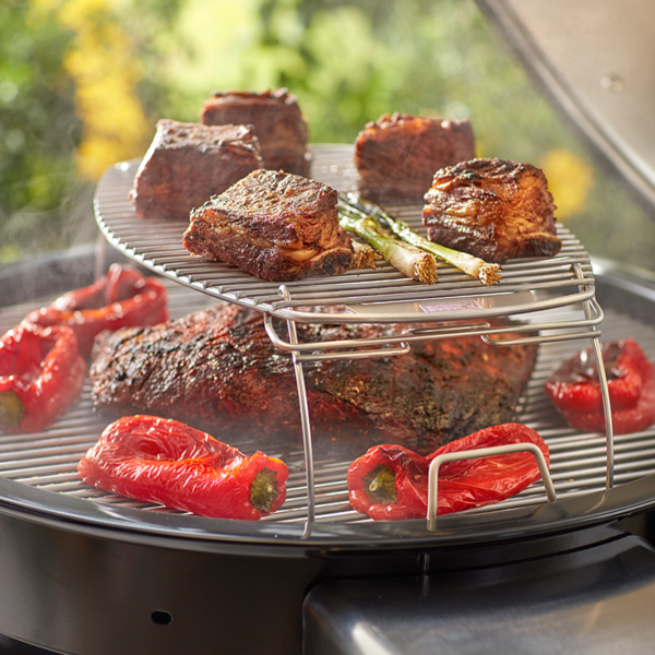 Gain extra cooking space with the Weber Barbecue Expansion Grilling Rack (Stainless-Steel) #7647