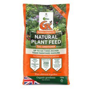 6X Natural Fibrous Fertiliser - 15Kg Bag