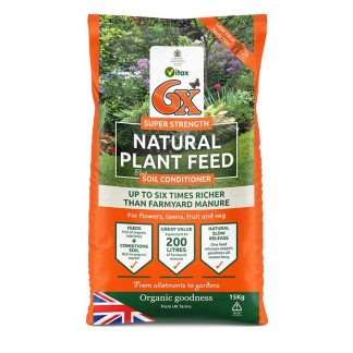 Vitax 6 x Super Strength Natural Plant Feed plus Soil Conditioner (15kg bag)