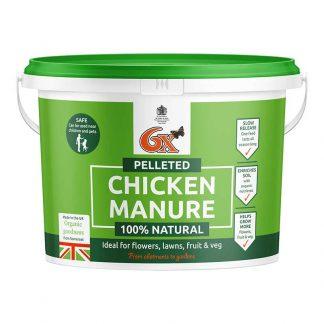 6X Pelleted Chicken Fertiliser - 8Kg Tub