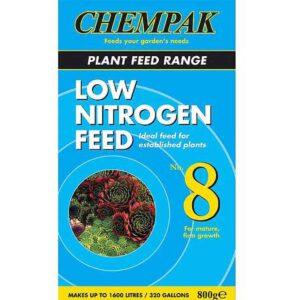 800g of Chempak Low Nitrogen Mature Plant Feed Formula No. 8