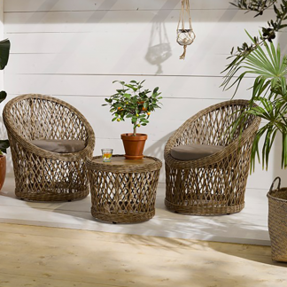Fez Wicker Coffee Set (with Seating for 2)