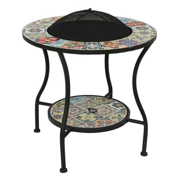 Braga Mosaic Firepit Table