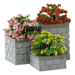 Lemax Flower Bed Boxes / Planters