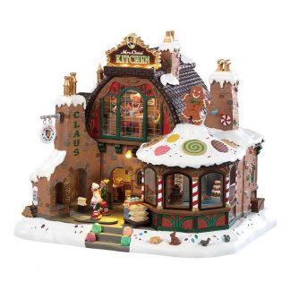 Lemax Mrs. Claus' Kitchen with Sights and Sounds