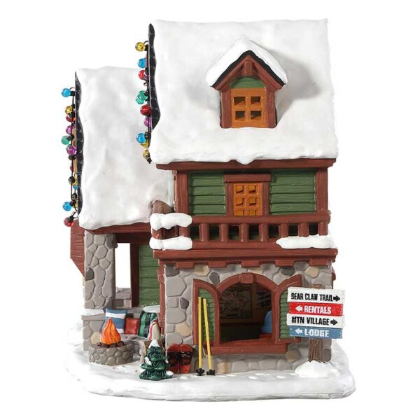 Lemax Backwoods Snowshoe Rental Shop