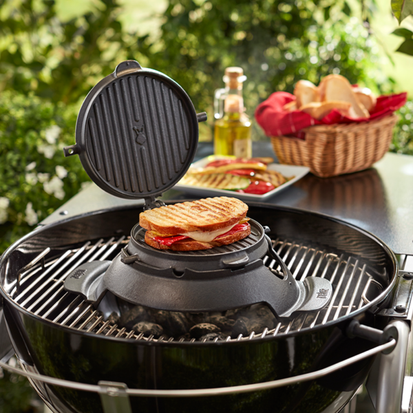 Toasted sandwiches on the Weber Barbecue Gourmet BBQ System (GBS) Waffle & Sandwich Maker