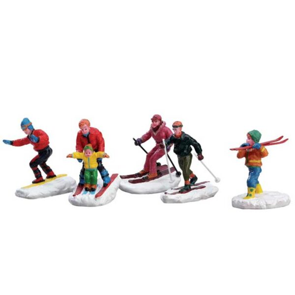 Set of 5 Lemax Winter Fun Figurines