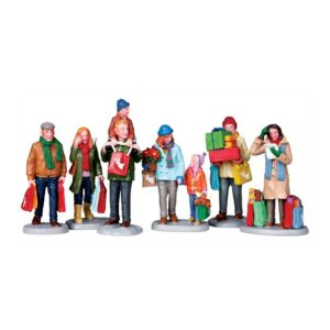 Lemax Holiday Shoppers - Set Of 6 Figurines