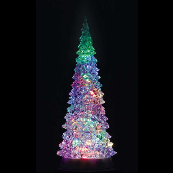 CRYSTAL LIGHTED TREE, 4 COLOR