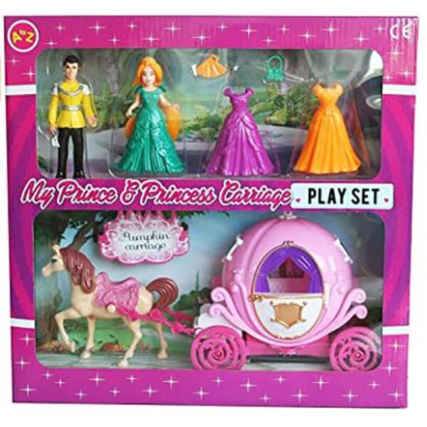 A to Z Princess & Prince Carriage Set 1