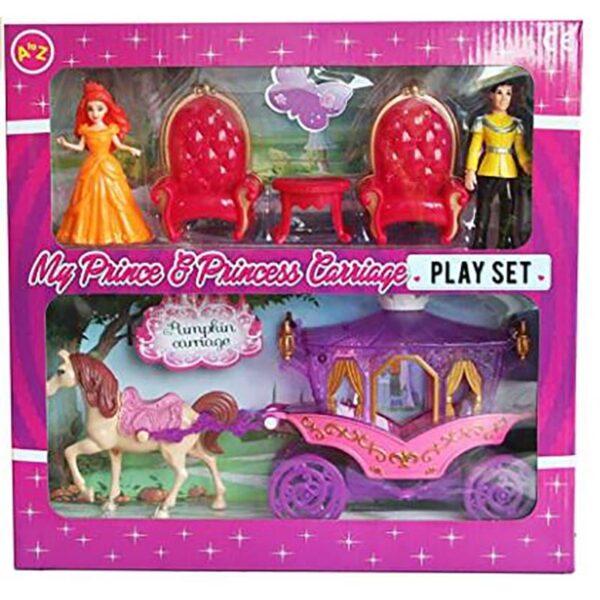 A to Z Princess & Prince Carriage Set 2