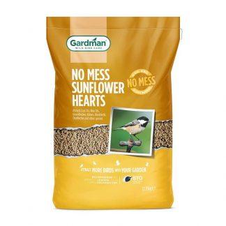 A 1kg Bag of Gardman No-Mess Sunflower Hearts for Wild Birds. 12.75Kg