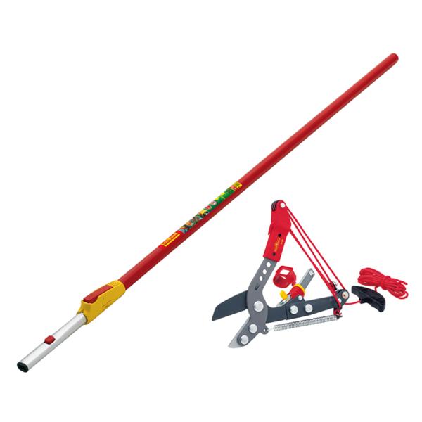 Wolf Garten multi-change Adjustable Anvil Tree Lopper & Telescopic Handle Set (Cutting dia. 4cm)