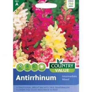 Country Value Antirrhinum Intermediate Mixed Seeds