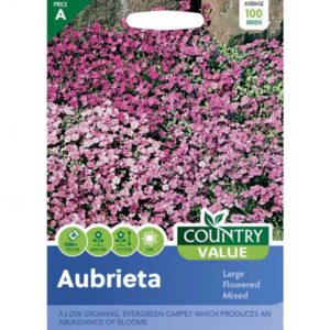 Country Value Aubrieta Large Flowered Mixed Seeds