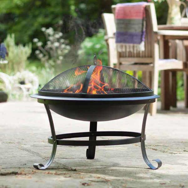 Albion traditional firepit in use