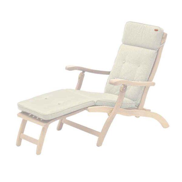 Alexander Rose Polyester Cushion for Steamer Chair (Ecru)