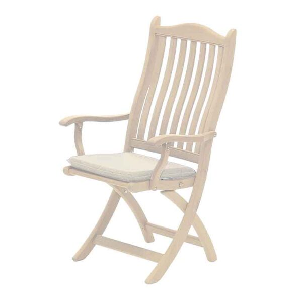 Alexander Rose Roble 6 Seat Garden Dining Set Chair with Seat pad