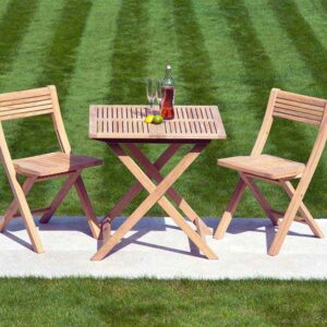Alexander Rose Roble Folding Tea for Two Garden Set