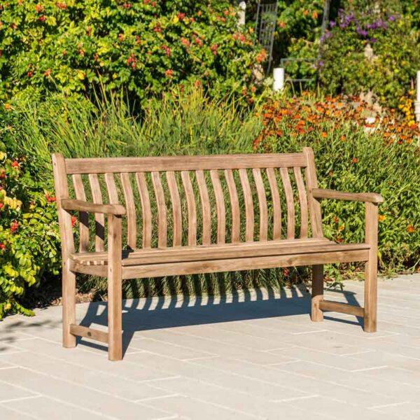 Alexander Rose Sherwood Broadfield Garden Bench (5ft) in garden
